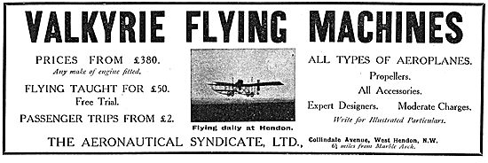 The Aeronautical Syndicate - Flying School