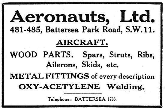 Aeronauts Ltd. 481-485, Battersea Park Rd Component Manufacturers