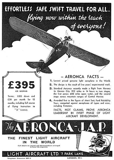 Aeronca-JAP Light Aircraft