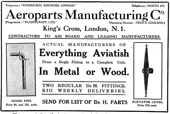 Aeroparts Manufacturing Co-  Aircraft Components & Assemblies