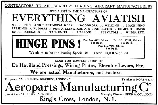 Aeroparts Manufacturing Company- Aircraft Components & Assemblies