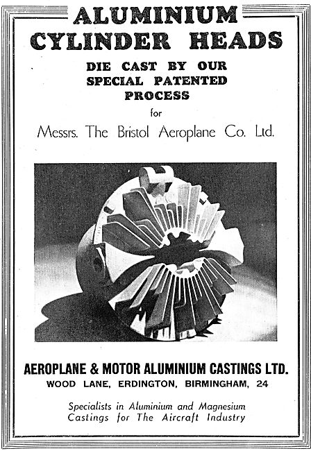 Aeroplane & Motor Aluminium Castings. Erdington. Cylinder Heads