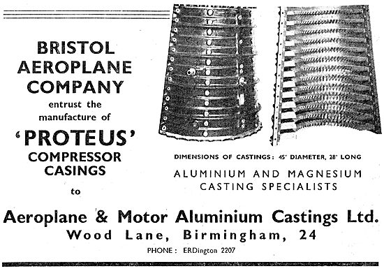 Aeroplane & Motor Aluminium Castings. Compressor Casings
