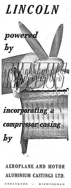 Aeroplane & Motor Aluminium Castings. Erdington. 1948