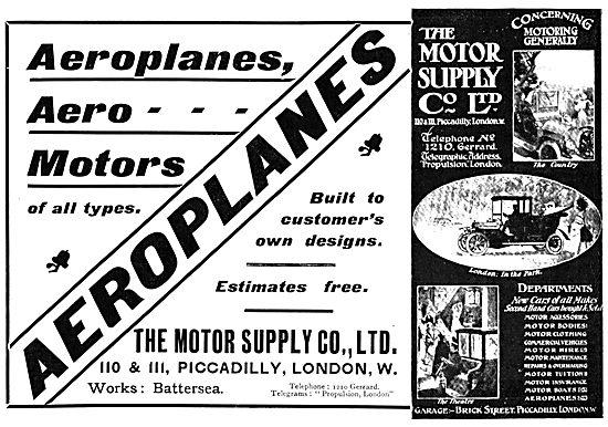 The Motor Supply Co. - Manufacturers Aeroplanes & Aero Motors