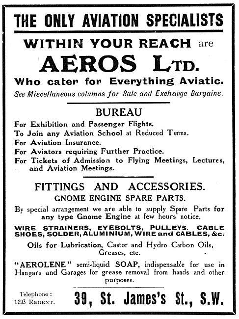 Aeros Ltd - Aviation &  Aviators Supplies & Services