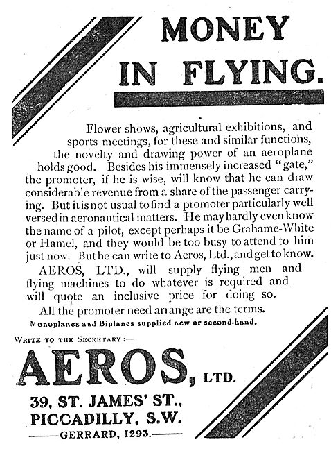 Aeros Supply Aircraft & Pilots For Flying Exhibitions