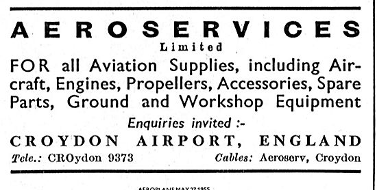 Aeroservices Croydon Airport For All Aviation Supplies.
