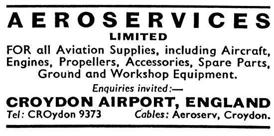 Aeroservices Croydon - Aircraft Parts Stockists