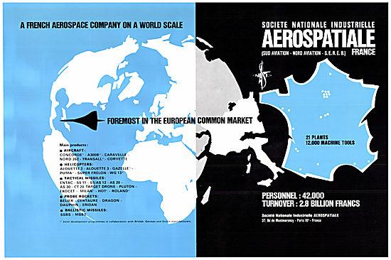 Aerospatiale Product Line 1970