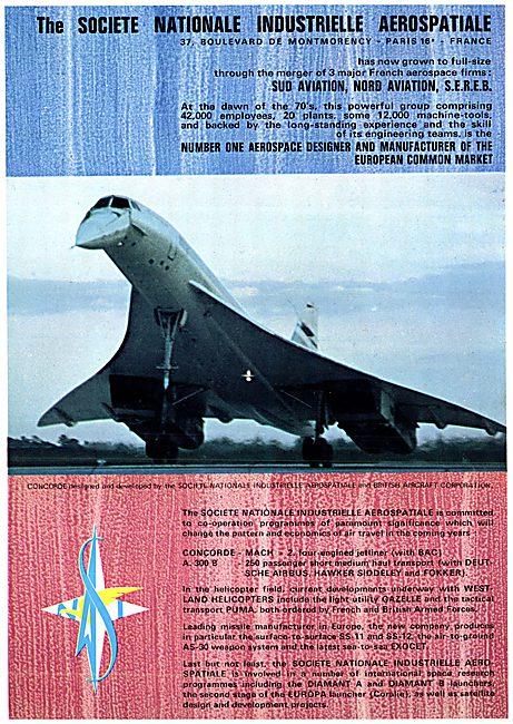Aerospatiale Aerospace Projects 1970