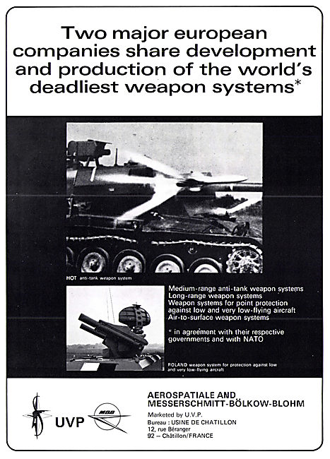 Aerospatiale MBB U.V.P. Weapons