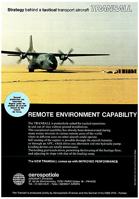 Aerospatiale MBB VFW Transall