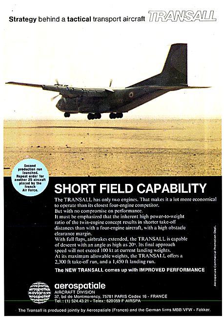 Aerospatiale MBB VFW Fokker Transall