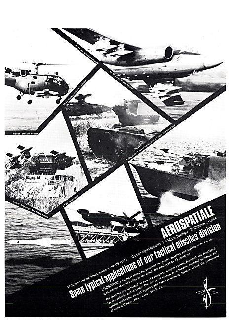 Aerospatiale Tactical Missiles 1970