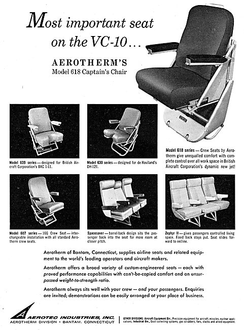 Aerotec Industries Inc. Aerotherm Aircraft Cabin Seating