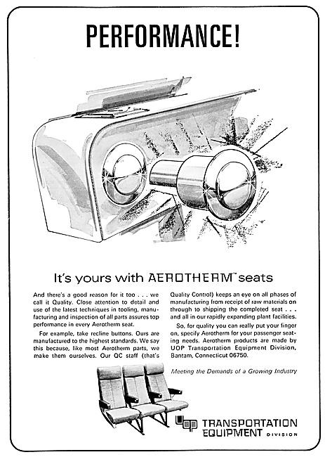 Transportation Equipment  Aerotherm Aircraft Seats