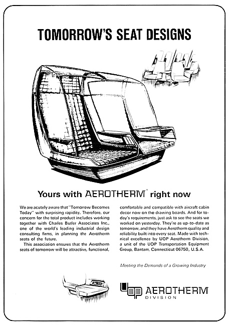 UOP Aerotherm Aircraft Seating
