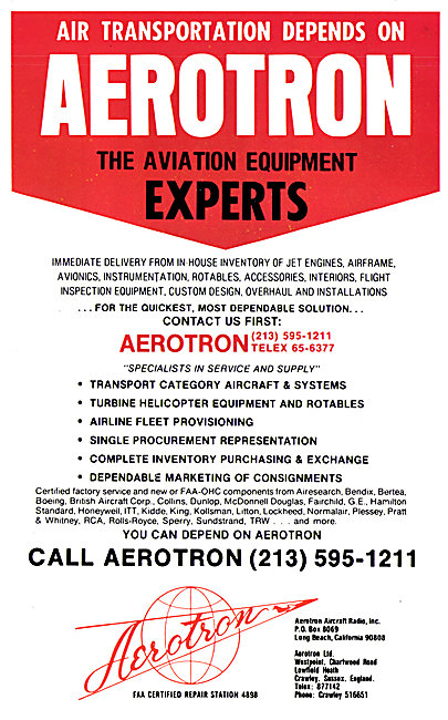 Aerotron Aircraft Parts Stockists