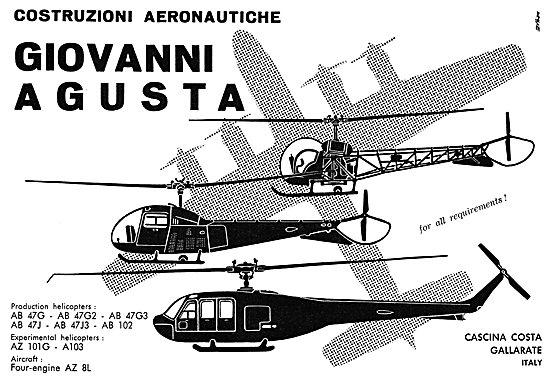 Agusta Helicopter Model Range 1960