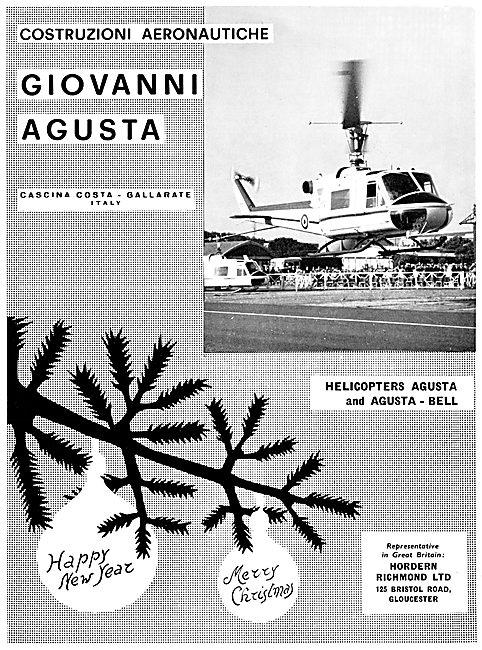 Agusta Bell Christmas Greetings 1961