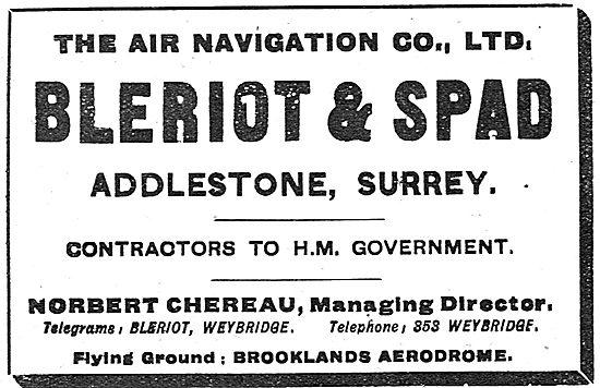 Air Navigation Co - Bleriot & Spad. Flying Ground Brooklands