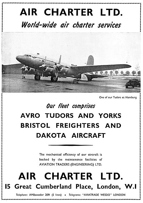 Air Charter Ltd. Air Charter Services. 1954