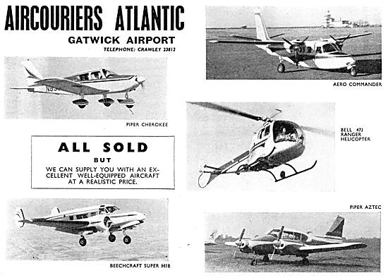 Air Couriers Atlantic. Aircraft Sales. Gatwick Airport