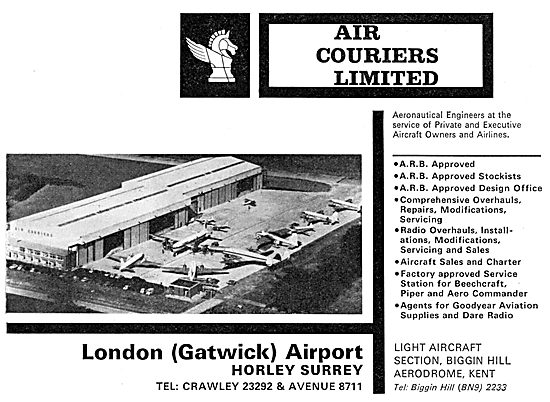 Air Couriers. Gatwick: Aircraft Sales & Engineering. 1965