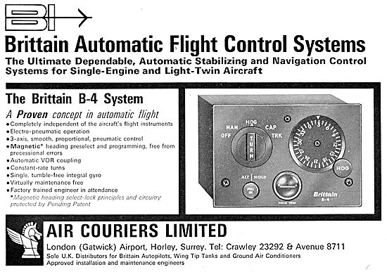 Air CouriersSales. Brittain B-4 Automatic Flight Control System