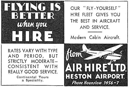 Air Hire Heston - The Fly Yourself Specialists.