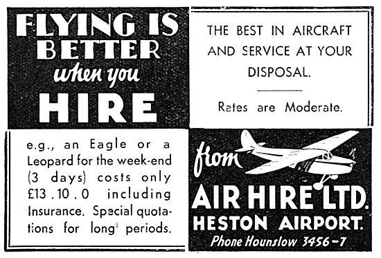Air Hire Heston - Aircraft Sales & Hire