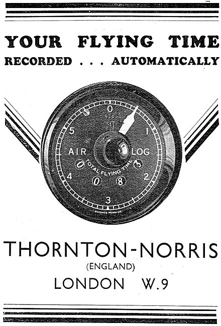 Air Log - Flying Time Recorded Automatically. Thornton-Norris