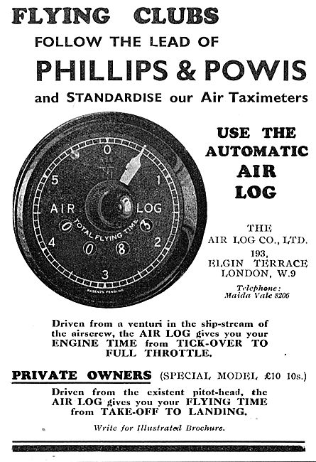 Phillips & Powis Use The Automatic Air Log