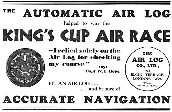 The Automatic Air Log Helped To Win The King's Cup Air Race