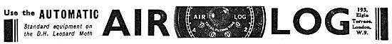 Air Log Elapsed Time Meters