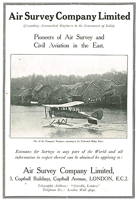 Air Survey - Pioneers Of Air Survey & Civil Aviation In The East