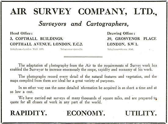 The Air Survey Company - Surveyors & Cartographers