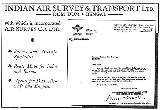 Indian Air Survey & Transport Ltd: Dum Dum Bengal
