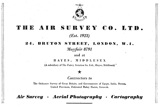 The Air Survey Group Of Companies 1947