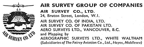 Air Survey Group Of Companies - Aerographic Surveys 1950