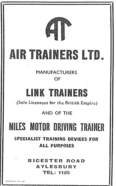 Air Trainers - Manufacturers Of Link Trainers