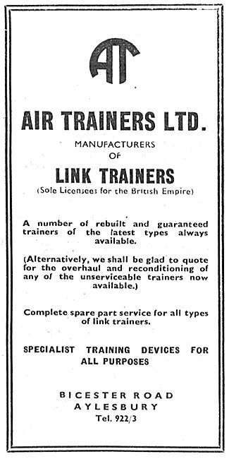 Air Trainers - Link Trainers - Synthetic Flight Trainers. D4 Link