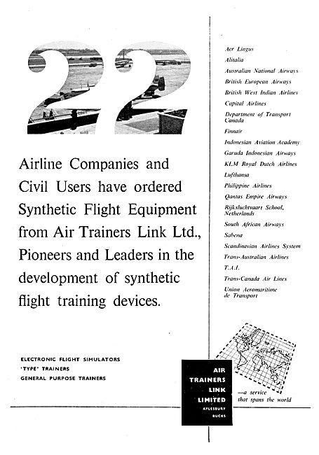 Air Trainers Link Trainers Electronic Flight Simulators