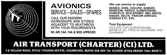 Air Transport (Charter) Avionics Sales & Service
