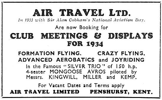 Air Travel Ltd - Aircraft Sales, Hire & Charter & Displays