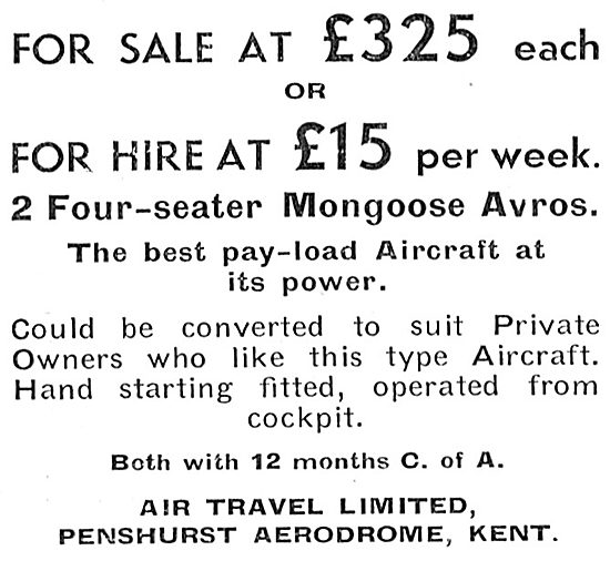 Air Travel Penshurst Aerodrome -  Aircraft Sales, Hire & Charter