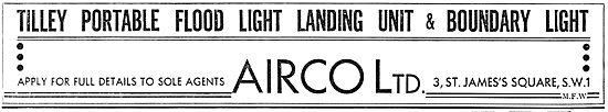 Airco - Tilley Portable Flood Light Landing Unit 1937
