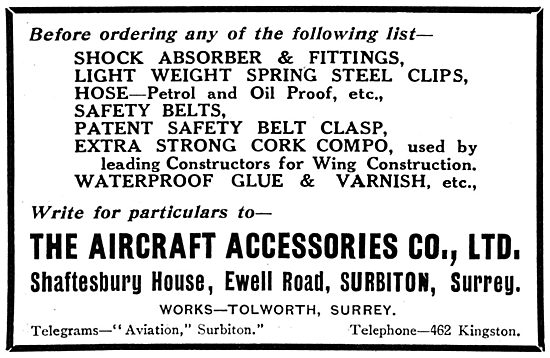 Aircraft Accessories Ltd - Ewell Road, Surbiton.