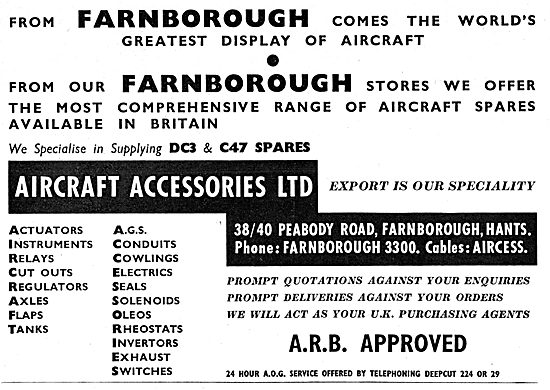 Aircraft Accessories Farnborough